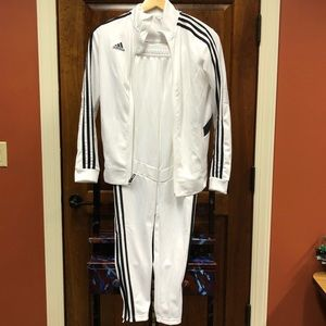 Adidas White And Black Sweat Suit Sz XS/S